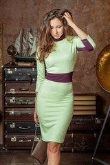 Платье F134-01 футляр салатовый