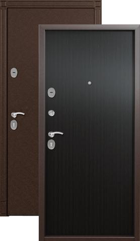 Дверь входная Стел 4, 2 замка, 1,2 мм  металл, (медь антик+венге)