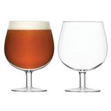 Набор из 2 круглых бокалов на ножке для пива Bar 550 мл LSA International G1227-23-991 | Купить в Москве, СПб и с доставкой по всей России | Интернет магазин www.Kitchen-Devices.ru