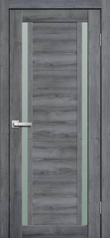 Дверь Porte line Берлин 23, стекло матовое, цвет дуб стоунвуд, остекленная
