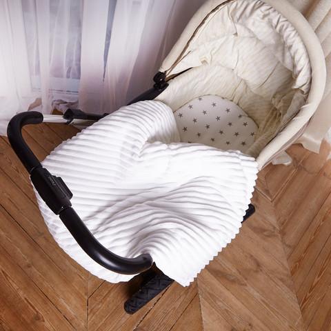 Постельное белье для коляски 4-02 80х80 см Белый
