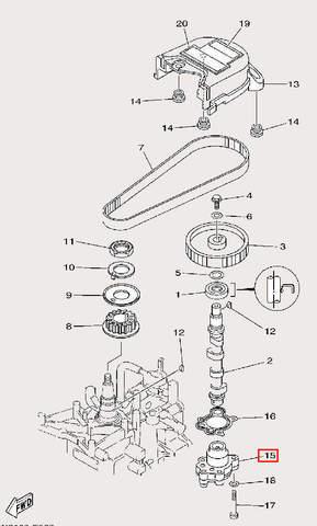 Насос масляный для лодочного мотора F9,9 Sea-PRO (8-15)
