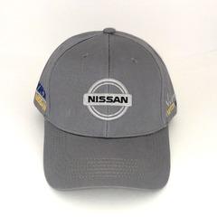 Кепка с вышитым логотипом Ниссан (Кепка Nissan) серая