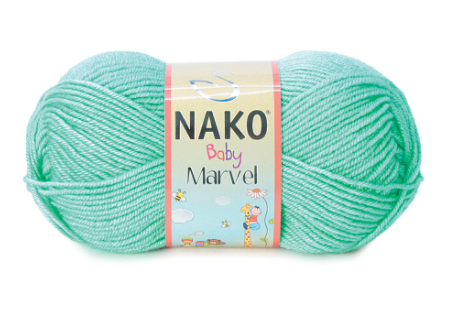 Пряжа Nako Baby Marvel мята 2867
