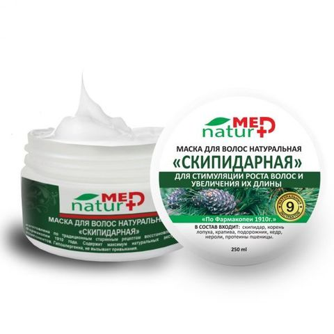 Маска для волос натуральная Скипидарная 250 мл Институт натуротерапии ТМ Натурмед