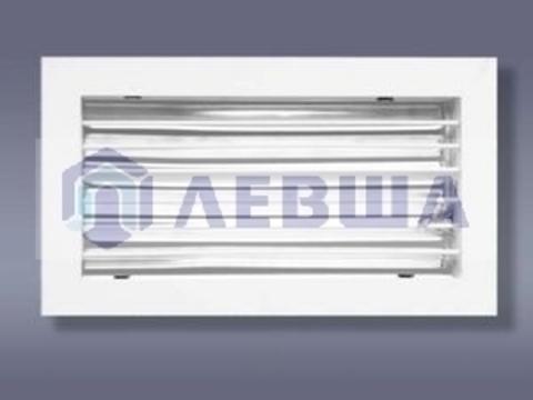 Решетка однорядная алюминиевая ЛВО 400х200