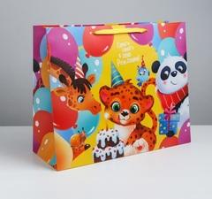 Пакет ламинированный «С Днём Рождения!», XL 49 × 40 × 19 см