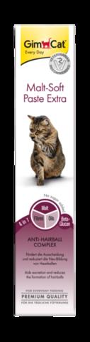 GIMCAT Мальт Софт Экстра паста для кошек для выведения шерсти 50г