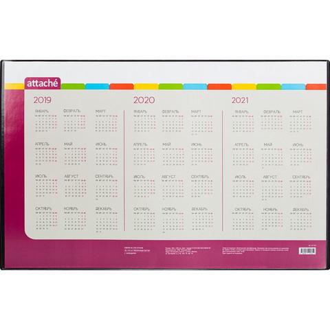 Коврик на стол Attache 59x38см с прозрачным листом календарь на текущий год