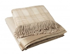 Плед 130х200 Gingerlily Silk Throw Oatmeal коричневый
