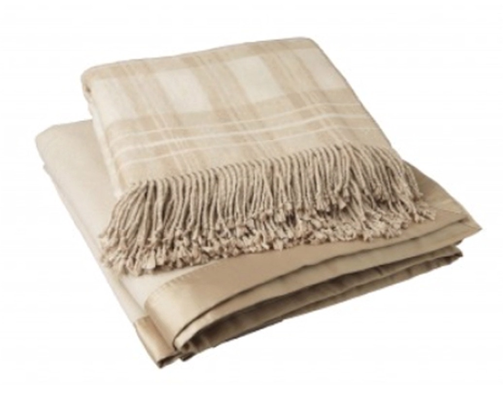 Пледы Плед 130х200 Gingerlily Silk Throw Oatmeal коричневый pled-shelkovyy-gingerlily-silk-throw-oatmeal-angliya.jpg