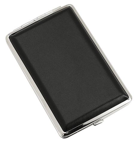Портсигар S.Quire 340023-03 черный гладкий