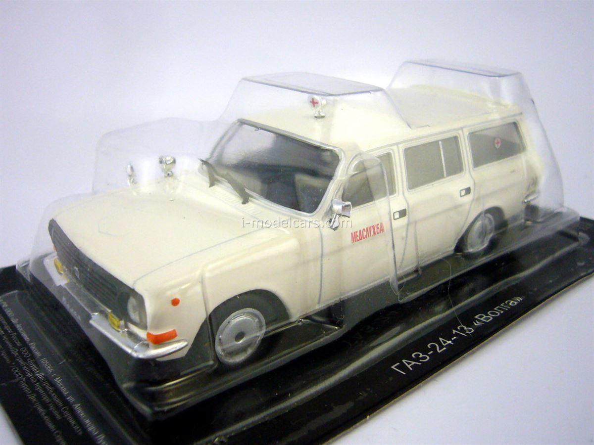 GAZ-24-13 Volga Medical Service Ambulance 1:43 DeAgostini Auto Legends USSR #207