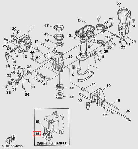 Кронштейн  для лодочного мотора T3S SEA-PRO (15-18)