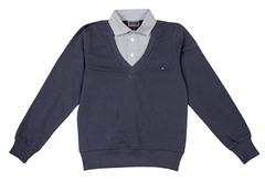 1585 джемпер с рубашкой-обманкой 2