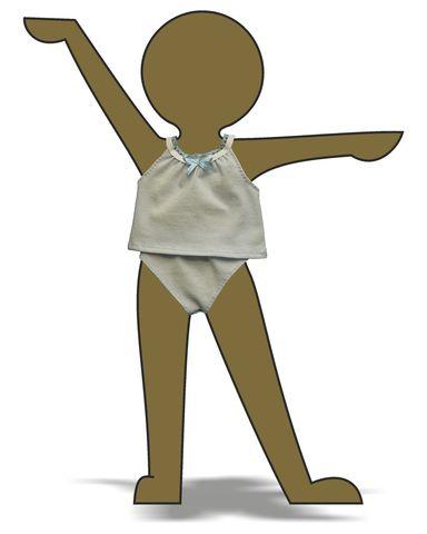 Комплект белья - Демонстрационный образец. Одежда для кукол, пупсов и мягких игрушек.