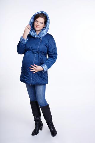 Куртка для беременных 04809 сине-зеленый