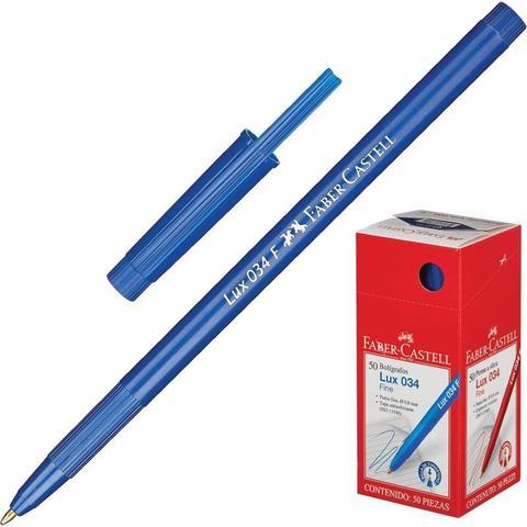 Ручка шариковая Faber-Castell LUX 034 F, 0,5 мм, синяя