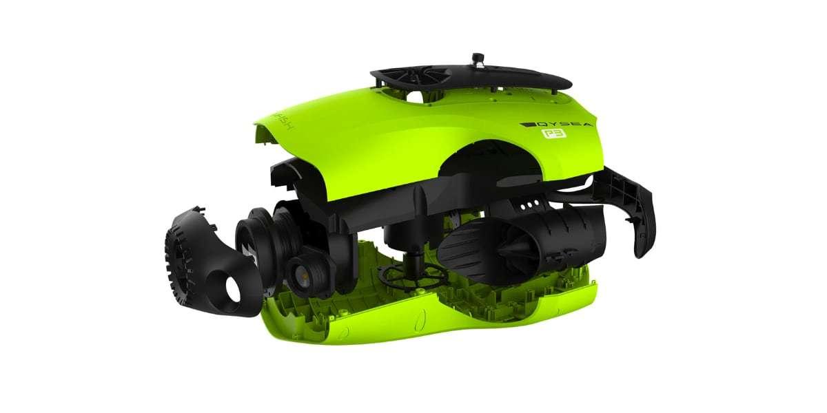 Подводный дрон FIFISH P3 разобран