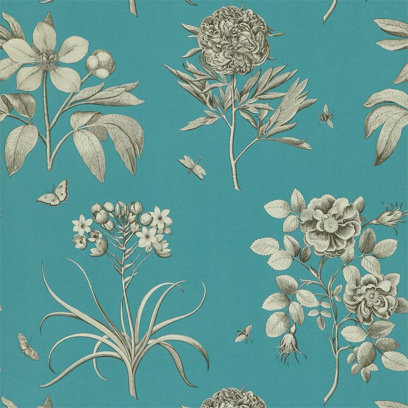 Обои Sanderson Parchment Flowers DPFWER103, интернет магазин Волео