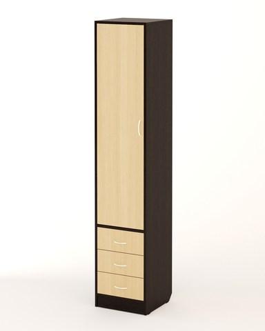 Шкаф-пенал П-03 венге / дуб беленый