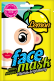 BLING POP Маска для лица с экстрактом лимона Lemon Vitamin & Brightening Mask (Корейская косметика)