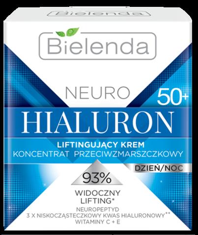 NEURO HIALURON Лифтинг-крем-концентрат против морщин для лица 50+ день / ночь 50 м