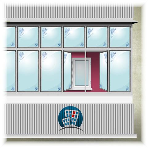 Остекление балкона в доме 1-515