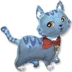 F Мини фигура Милый котёнок (голубой) / Sweet cat (14