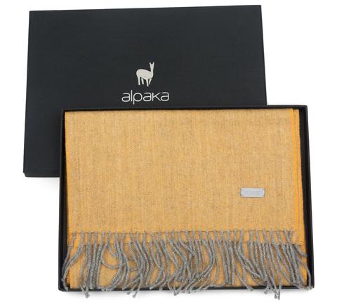 Плед-шарф шерстяной 30x200 Alpaka желтый