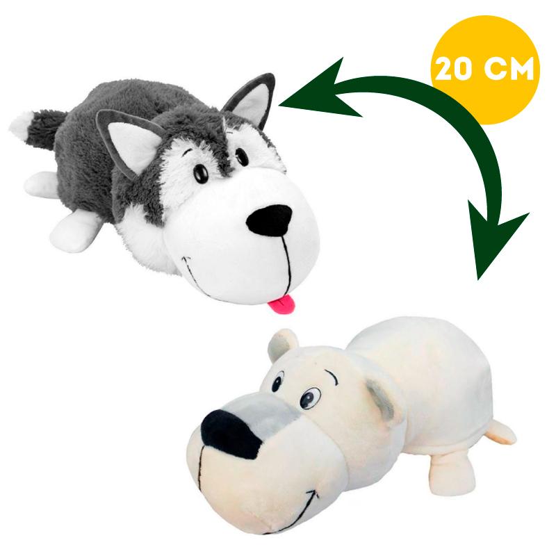 Вывернушка 2в1 Хаски-Полярный мишка, 20 см - Вывернушки, артикул: 963256