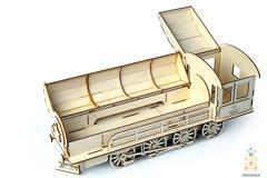 Деревянные конструкторы Lemmo. Модель  Паровоз-пенал