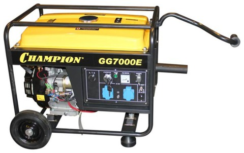 Бензогенератор Champion GG7000E 6 кВт +ATS+газоотвод