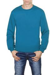 4054-1 футболка мужская дл. рукав, голубая