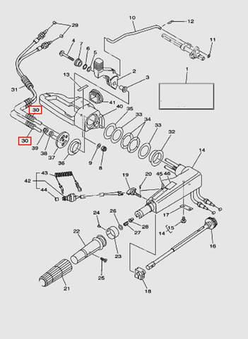 Трубка L75 для лодочного мотора T40 Sea-PRO (14-30)