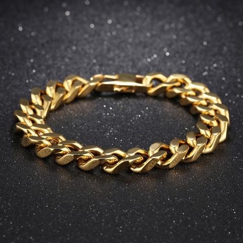 Браслет золотистый 10 мм мужской Steelman 97103
