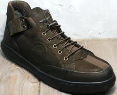 Мужские демисезонные кроссовки туфли Luciano Bellini 71748 Brown
