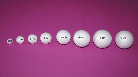 054-6271 Шар из пенопласта, 1 шт.(7см)