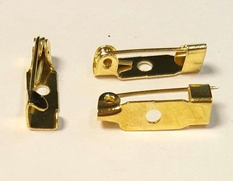 Основа для броши - булавка 15 мм. 1 отверстие