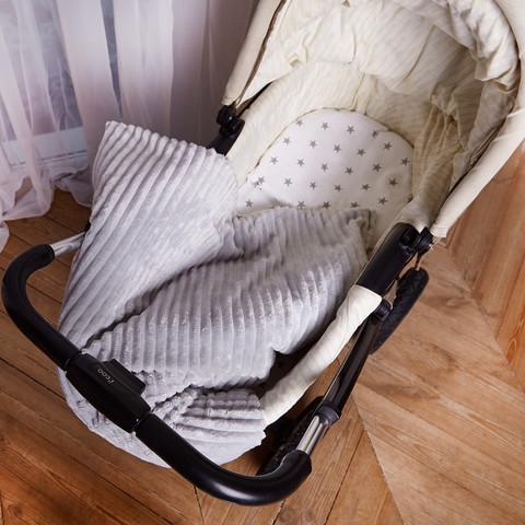 Постельное белье для коляски 4-02 80х80 см Серый