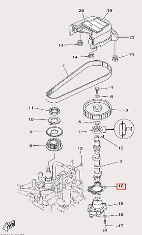 Прокладка бензонасоса для лодочного мотора F9,9 Sea-PRO (8-16)