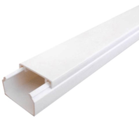 MEX 20Х12,5 Миниканал 20Х12,5мм. 1шт=1м. Цвет Белый. Ecoplast (ЭКОПЛАСТ). 77014
