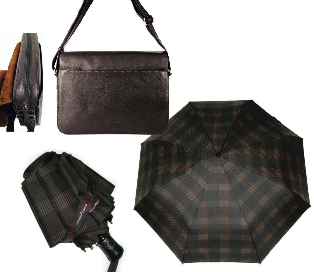 Комплект #5 Hexagona сумка планшет(Франция) и зонт Scottish Maison Perletti (Италия)