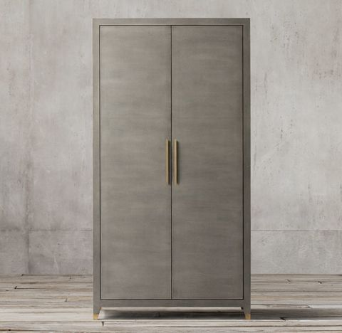 Graydon Shagreen Panel Double-Door Cabinet