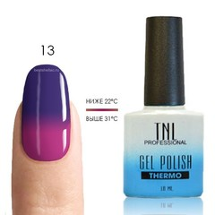 Термо гель-лак TNL 13 - фиолетовый/фуксия, 10 мл