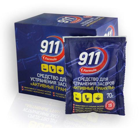 Sellwin Pro  911 Formula Средство для устранения засоров Активные гранулы 70г