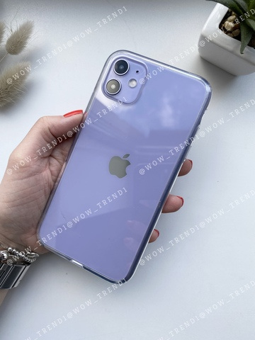 Чехол iPhone 11 Simple silicone /transparent/ 444