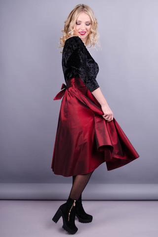 Одрі. Святкова жіноча сукня. Бордо.