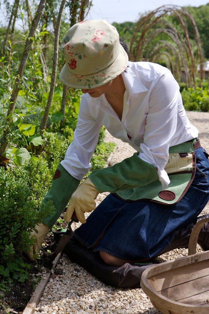 Коврик для работы в саду на коленях из хлопка и кожи Bradleys