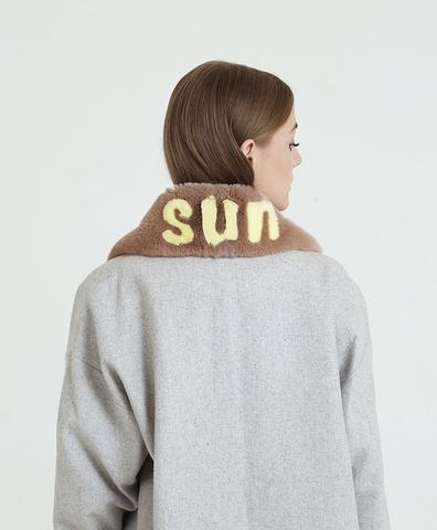 Воротник беж SUN желтый